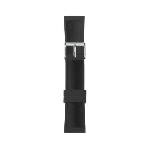 Cinturino Orologio Iam IAM-301. Cinturino large per orologio Iam realizzato in silicone di colore nero con fibbia in acciaio.
