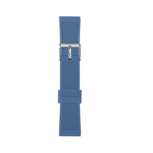 Cinturino Orologio Iam IAM-317. Cinturino large per orologio Iam realizzato in silicone di colore blu chiaro con fibbia in acciaio.