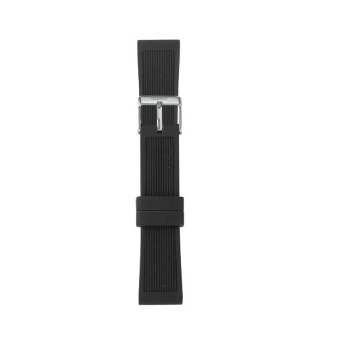 Cinturino Orologio Iam IAM-206. Cinturino medium per orologio Iam realizzato in silicone di colore nero con fibbia in acciaio.