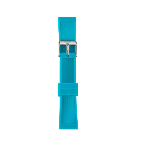 Cinturino Orologio Iam IAM-207. Cinturino medium per orologio Iam realizzato in silicone di colore azzurro giada con fibbia in acciaio.
