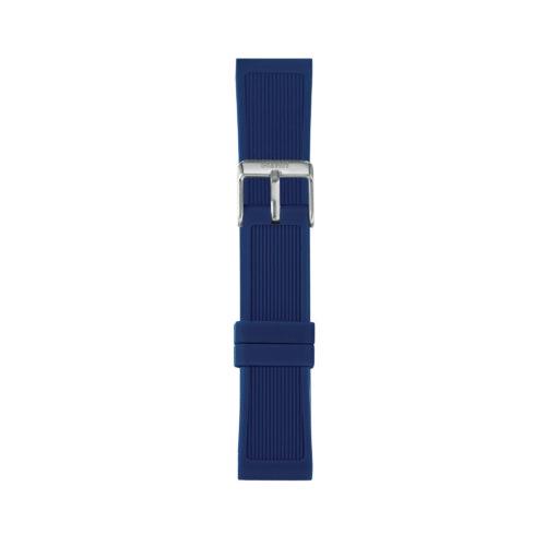 Cinturino Orologio Iam IAM-210. Cinturino medium per orologio Iam realizzato in silicone di colore blu scuro con fibbia in acciaio.
