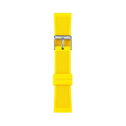 Cinturino Orologio Iam IAM-309. Cinturino large per orologio Iam realizzato in silicone di colore giallo con fibbia in acciaio.