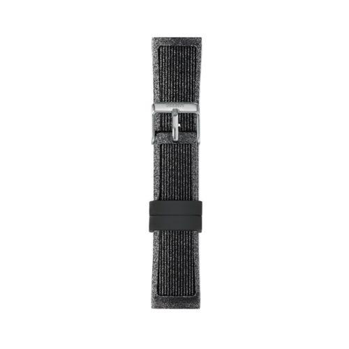 Cinturino Orologio Iam IAM-218. Cinturino medium per orologio Iam realizzato in silicone di colore nero glitter con fibbia in acciaio.
