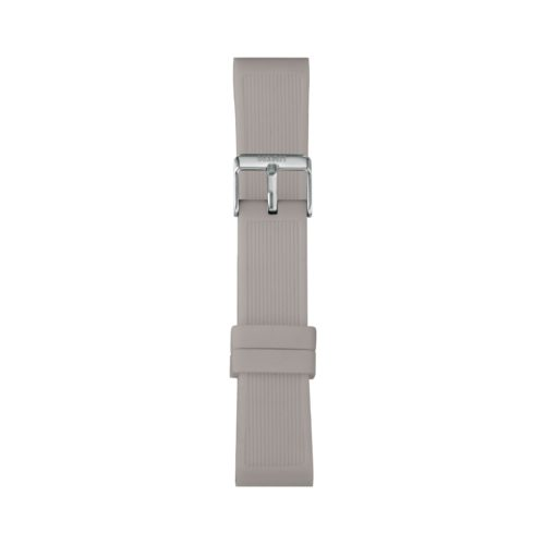 Cinturino Orologio Iam IAM-303. Cinturino large per orologio Iam realizzato in silicone di colore grigio chiaro con fibbia in acciaio.