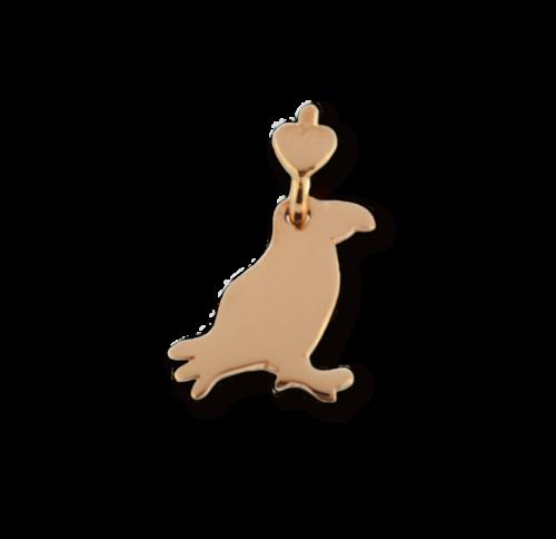 """Ciondolo Dodo Mariani N/Adella collezione """"Gli amici del cuore"""". Ciondolo a forma di pulcinella di mare 2 cm x 1,5 cm in oro rosa 9 kt."""