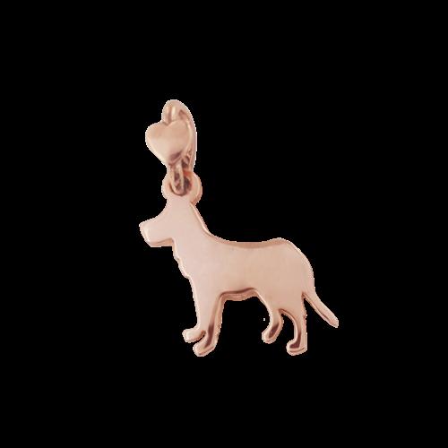 """Ciondolo Dodo Mariani N/Adella collezione """"Gli amici del cuore"""". Ciondolo a forma di cane 1,5 cm x 1 cm in oro rosa 9 kt."""