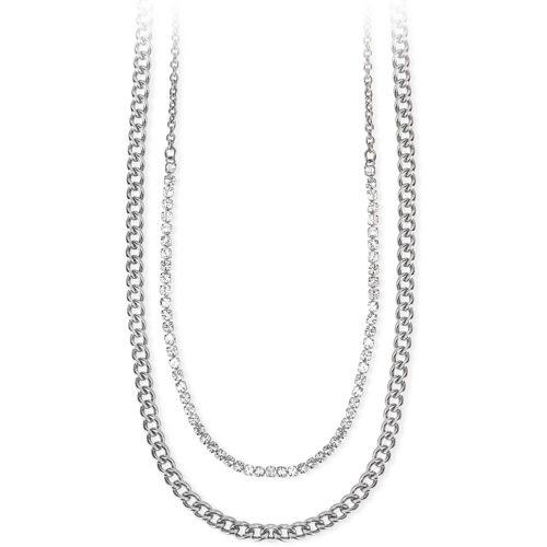 Collana 2Jewels 251694 della collezione Mix & Match . Collana multifilo realizzata in acciaio anallergico e zirconi . Questa collana viene spedita con scatola originale 2Jewels.