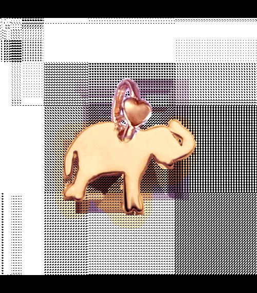 """Ciondolo Dodo Mariani N/Adella collezione """"Gli amici del cuore"""". Ciondolo a forma di elefante 1,5 cm x 1 cm in oro rosa 9 kt."""