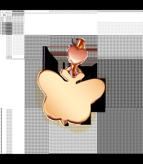 """Ciondolo Dodo Mariani N/Adella collezione """"Gli amici del cuore"""". Ciondolo a forma di farfalla 1,5 cm x 1 cm in oro rosa 9 kt."""