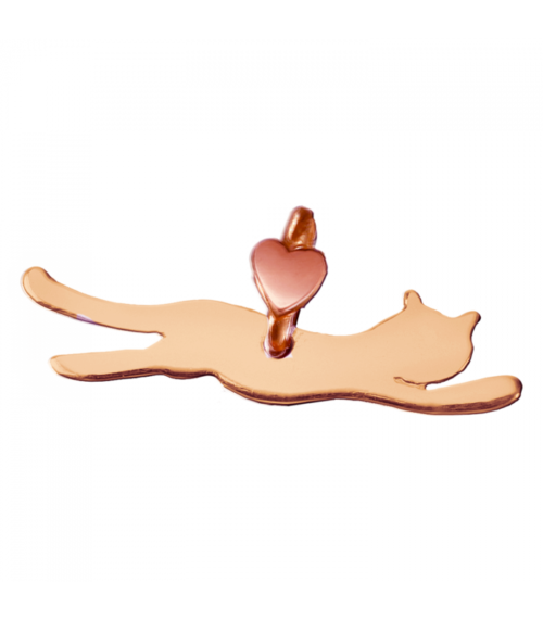 """Ciondolo Dodo Mariani N/Adella collezione """"Gli amici del cuore"""". Ciondolo a forma di pantera 2,5 cm x 1 cm in oro rosa 9 kt."""