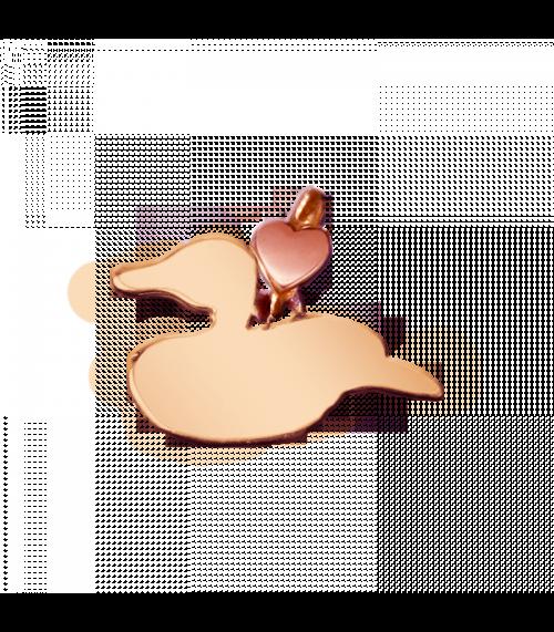 """Ciondolo Dodo Mariani N/Adella collezione """"Gli amici del cuore"""". Ciondolo a forma di papera 1,5 cm x 1 cm in oro rosa 9 kt."""