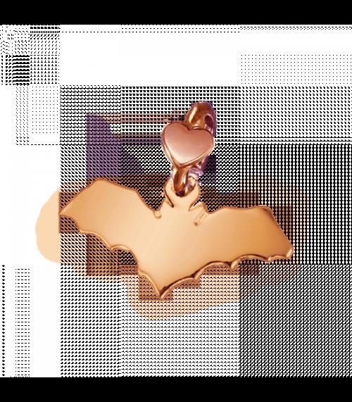 """Ciondolo Dodo Mariani N/Adella collezione """"Gli amici del cuore"""". Ciondolo a forma di pipistrello 2 cm x 1 cm in oro rosa 9 kt."""