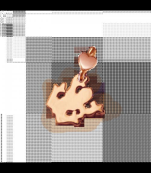 """Ciondolo Dodo Mariani N/Adella collezione """"Gli amici del cuore"""". Ciondolo a forma di rana 1,5 cm x 1 cm in oro rosa 9 kt."""