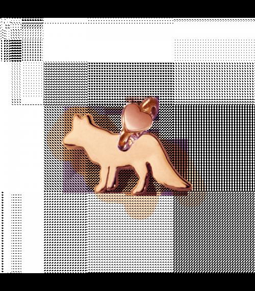 """Ciondolo Dodo Mariani N/Adella collezione """"Gli amici del cuore"""". Ciondolo a forma di volpe 2 cm x 1 cm in in oro rosa 9 kt."""