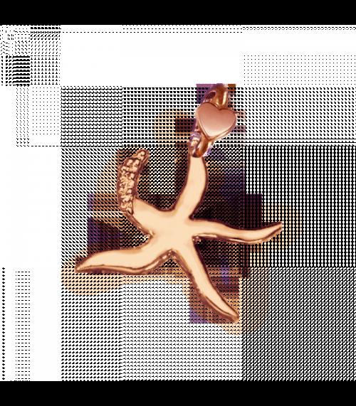 """Ciondolo Dodo Mariani N/Adella collezione """"Gli amici del cuore"""". Ciondolo a forma di stella marina 2 cm x 1,5 cm in oro rosa 9 kt."""