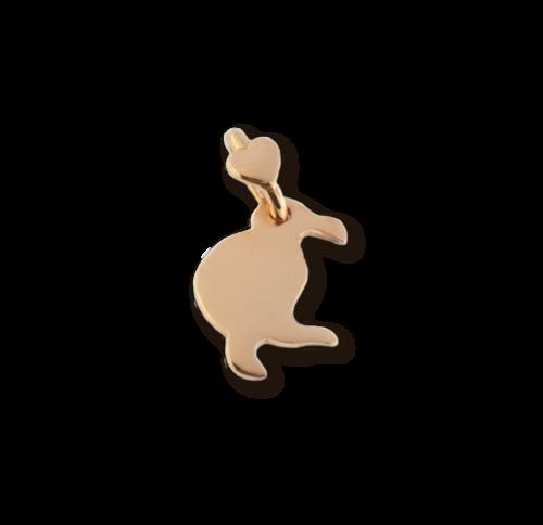 """Ciondolo Dodo Mariani N/Adella collezione """"Gli amici del cuore"""". Ciondolo a forma di kiwi 2 cm x 1,5 cm in oro rosa 9 kt."""