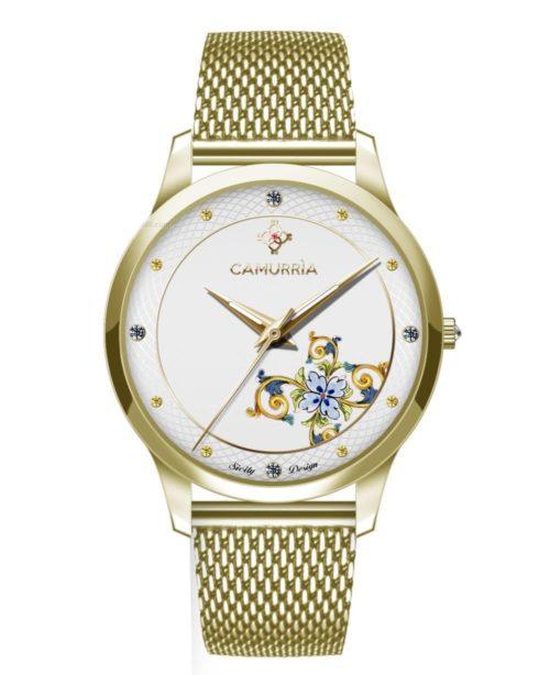 """Orologio Camurrìa CW23GS1 della collezione """"Ciuri""""."""