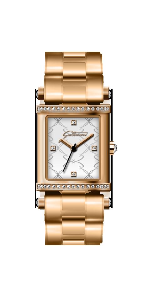 Orologio Gattinoni GW01GSWcon quadrante opaco di forma rettangolare 20x24 mm impreziosito da zirconi, cinturino in acciaio con finitura rosegolde e vetro minerale.