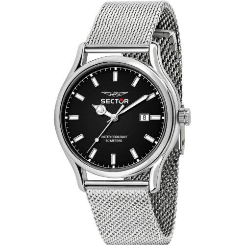 Orologio uomo Sector 660 - R3253517023 con cinturino in metallo silver e quadrante nero di dimensione 43 mm. Movimento a quarzo.
