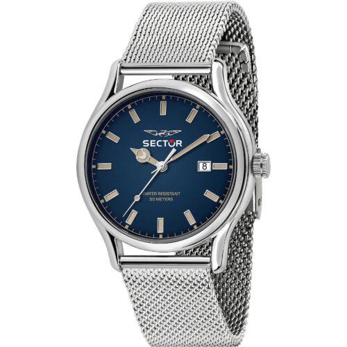 Orologio uomo Sector 660 - R3253517024 con cinturino in metallo silver e quadrante blu di dimensione 43 mm. Movimento a quarzo.