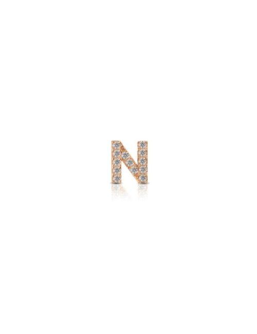 Charm Kulto925 Donna KC925-040 della collezione always with me. Gioiello realizzato in argento 925 in rosè lettera N, impreziosita da zirconi. Scegli i charms che preferisci e personalizza il tuo gioiello Kulto925.