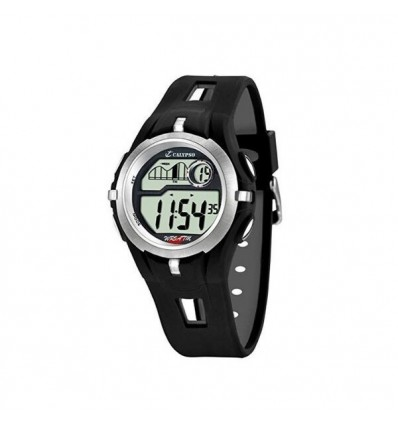 Orologio Calypso Digitale k5511/1. Orologio digitale in silicone con allarme, calendario, cronografo e illuminazione.