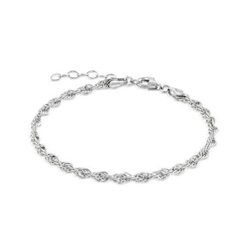 Bracciale Donna Rerum 22001in argento 925. Misura 16,5 cm + 3 cm di estensione grazie alla chiusura regolabile a moschettone.