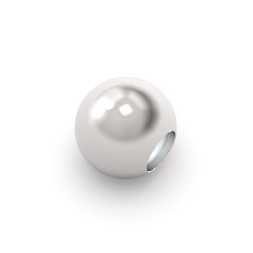 Beads Donna Rerum 26000.Elemento decorativo di forma sferica in argento 925.