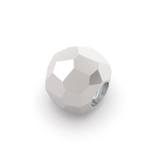 Beads Donna Rerum 26001. Elemento decorativo di forma sferica in argento 925 con superficie sfaccettata.