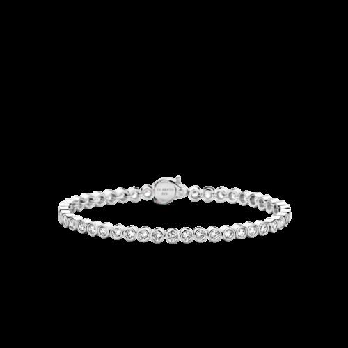 Bracciale Donna Ti Sento 2842ZI. Bracciale tennis in argento sterling rodiato con zirconi.