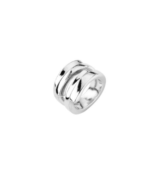 Anello Donna Uno de 50 ANI0639MTL00015. Anello in metallo bagnato nell'argento della collezione Maratua Island. Gioiello 100% realizzato a mano da UNOde50, Spagna.