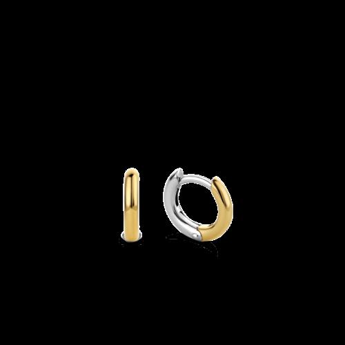 Orecchini Donna Ti Sento 7811SY. Orecchini in argento sterling rodiato placcati con uno strato di oro 18k di 3 micron di spessore.