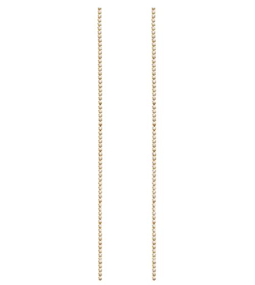 Orecchini Donna PDPAOLA AR01-070-U. Orecchini in argento 925 con placcatura in oro 18k e zirconi. Lunghezza: 12 cm. Sistema di chiusura: Vite tradizionale.