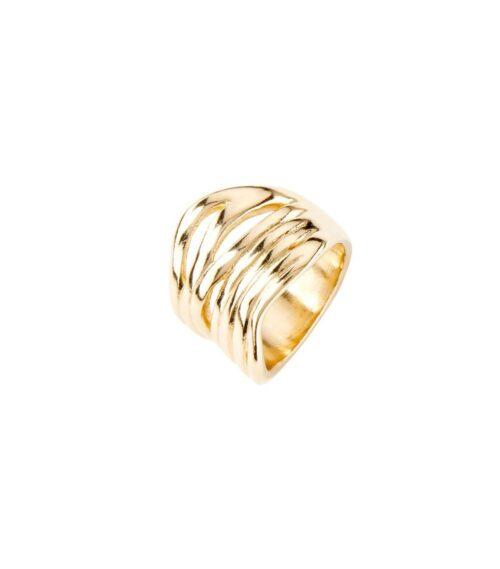 Anello Donna Uno de 50 ANI0638ORO00021. Anello in metallo della collezione Nihiwatu Beach con placcatura oro. Gioiello 100% realizzato a mano da UNOde50, Spagna.