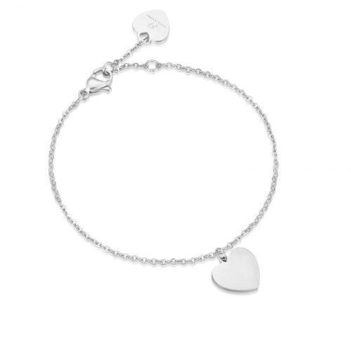 Bracciale Donna Luca Barra BK1671. Bracciale in acciaio con ciondolo a forma di cuore. Lunghezza: 20 cm.