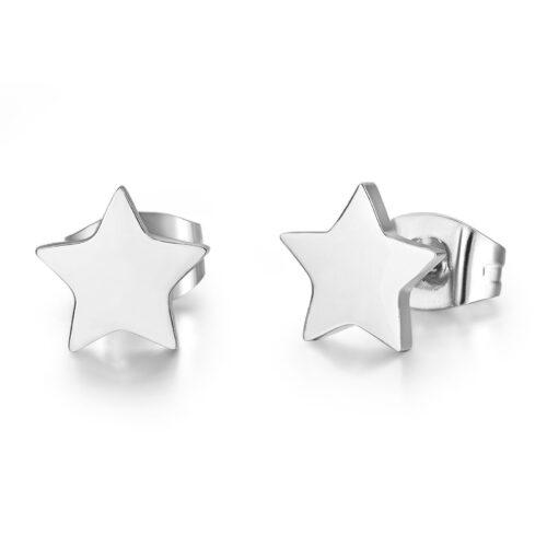 Orecchini Donna Luca Barra OK937. Orecchini in acciaio anallergico a forma di stella.