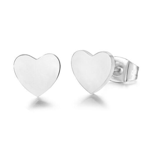 Orecchini Donna Luca Barra OK942. Orecchini in acciaio anallergico a forma di cuore.