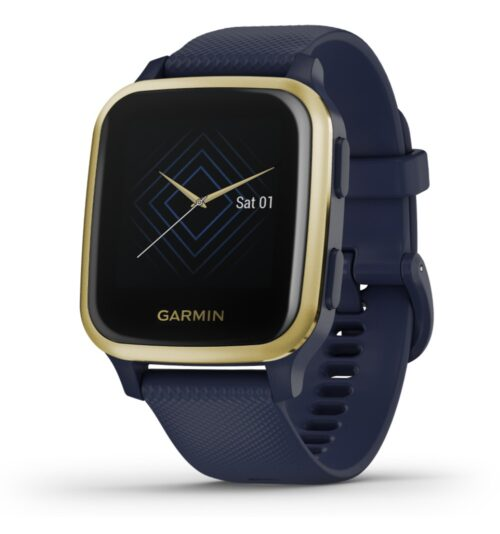 Orologio Garmin Venu® Sq - Music Edition Navy Light Gold 010-02426-12.