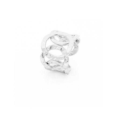 Anello Donna Unoaerre 000EXA0640000 della collezione Bronze. Anello aperto, realizzato in bronzo, composto da 7 cerchi diamantati. Misura unica.