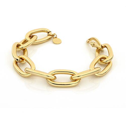 Bracciale Donna Unoaerre 000EXB4674000G della collezione Bronze. Bracciale realizzato in bronzo gold con catena forzatina. Chiusura a moschettone. Lunghezza 21,5 cm.