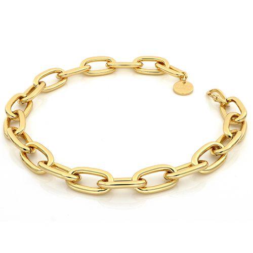 Collana Donna Unoaerre 000EXH5014000G della collezione Bronze. Collana realizzata in bronzo gold con catena forzatina. Chiusura a moschettone. Lunghezza 45 cm.
