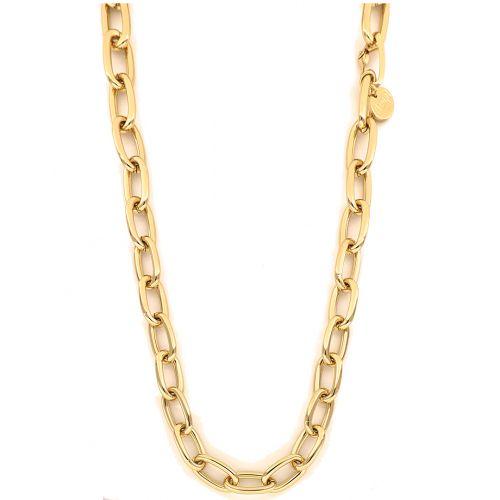 Collana Donna Unoaerre 000EXH5024000G della collezione Bronze. Collana realizzata in bronzo gold con catena forzatina. Chiusura a moschettone.