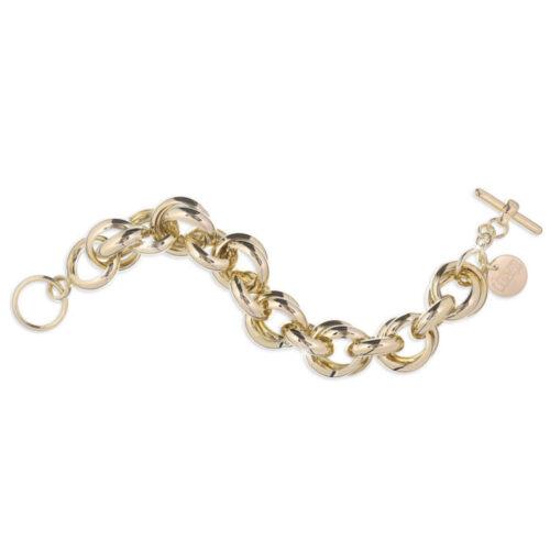 Bracciale Donna Unoaerre 000EXB4075000G della collezione Bronze. Bracciale realizzato in bronzo gold con catena a maglie tonde. Lunghezza: 22 cm.
