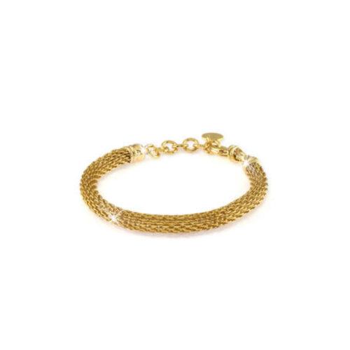 Bracciale Donna Unoaerre 000EXB4134000G della collezione Bronze. Bracciale realizzato in bronzo gold con maglia a rete. Lunghezza: 18 cm.