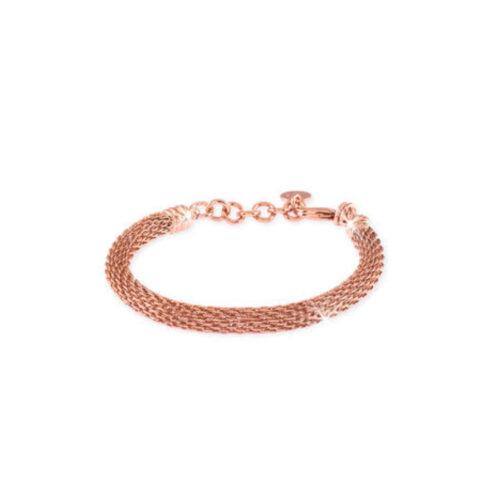 Bracciale Donna Unoaerre 000EXB4134000R della collezione Bronze. Bracciale realizzato in bronzo rosato con maglia a rete. Lunghezza: 18 cm.