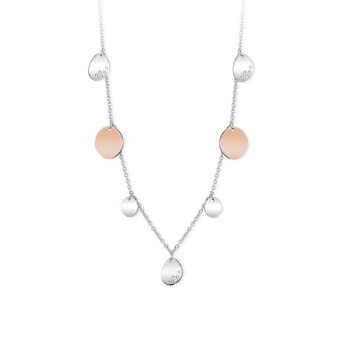 Collana Donna 2Jewels 251698. Collana realizzata in acciaio 316L con ciondoli di forma ovale e cristalli bianchi. Lunghezza 90 cm.