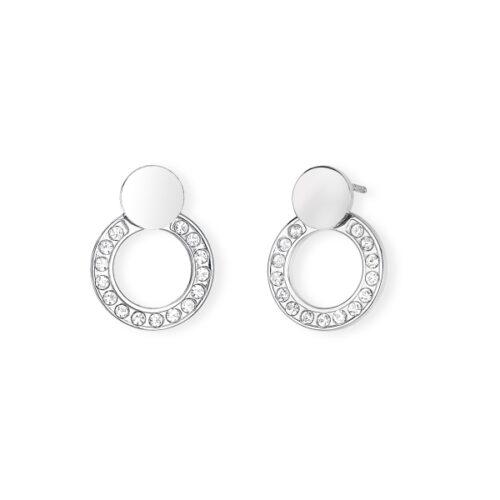 Orecchini Donna 2Jewels 261280. Orecchini di forma circolare, realizzati in acciaio 316L con cristalli bianchi.