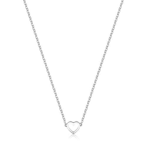 Collana S'agapò SCK08 della collezione Happy. Collana in acciaio 316L con pendente a forma di cuore. Misura collana: 43 cm.