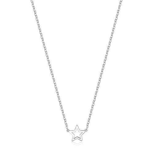 Collana S'agapò SCK09 della collezione Happy. Collana in acciaio 316L con pendente a forma di stella. Misura collana: 43 cm.