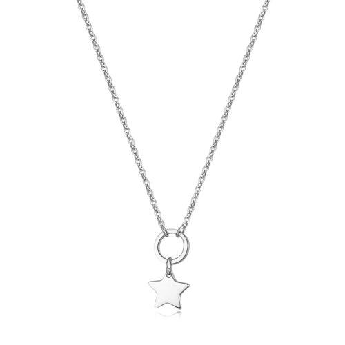Collana S'agapò SHAC53 della collezione Happy. Collana componibile in acciaio 316L con pendente a forma di stella. Misura collana: 46 cm.